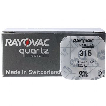 Rayovac 315 SR716SW 1.5V Silver Oxide Watch Battery